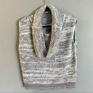 David Buffalo Bitton Cowl Neck Chunky Knit Sweater Vest Size Small